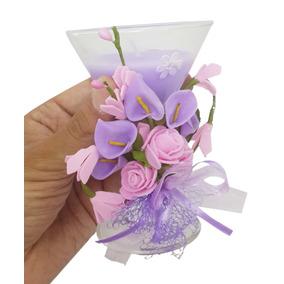 Vela Decorativa Media Festa 15 Anos Flor Enfeite Kit Com 2