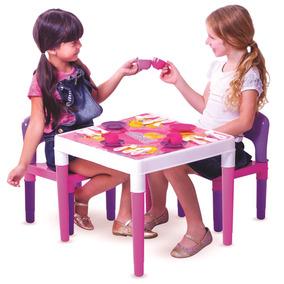 Mesinha Didatica Multi Atividades Debbie Com 2 Cadeiras Rosa