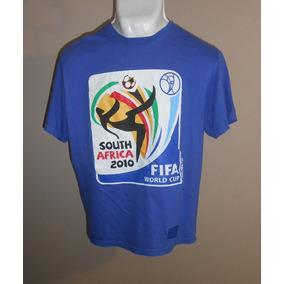 Playera Oficial Copa Sudáfrica 2010 Azul Con Logo Talla L
