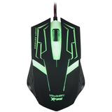 Mouse Gamer Iluminado Xfire Skanda Verde 3200dpi C 7 Botões