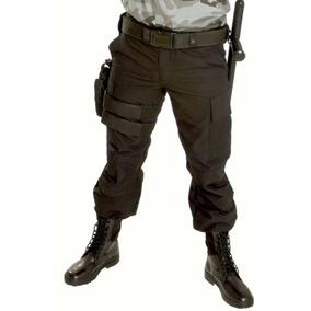 Calça Tática Rip Stop Preta Segurança Agente Polícia Civil