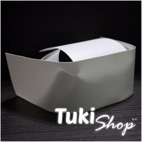 Cofia Enfermera Acabado Plástico Blanca Tuki Envío