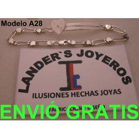 $850 Esclava Corazón Personali Plata Ley950 Envió+paga Meses