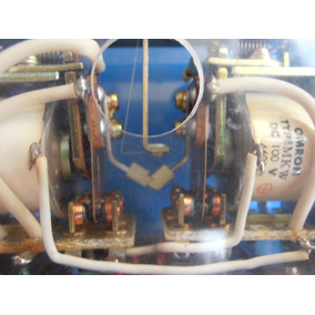 Relay Doble Mkw-33p Tipo Flip Flop Mecanico Omron 100vdc
