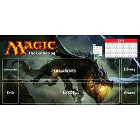Playmat Magic The Gathering Card Game Rpg Lona Mtg Dragão Bl