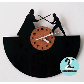 Reloj Corte Laser Star Wars. Darth Vader Y Luke Skywalker