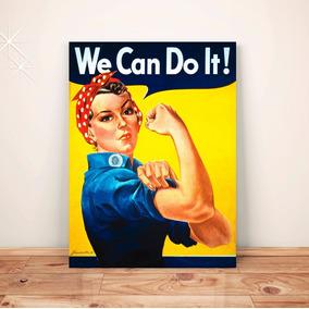 Pôster Retrô Feminismo C/frete Placa A3 Adesivo #pvt106a0