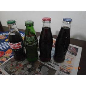 4 Garrafinhas Caçulinhas De Coca Cola, Kuat E Pepsi