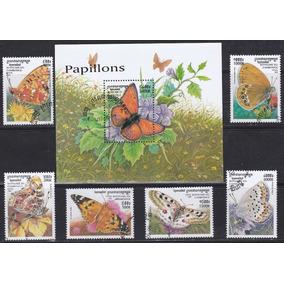 Selos Cambodja 1999 Fauna Insetos Borboletas E Mariposas