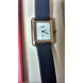 Reloj Cartier Must De Cuerda Chapeado En Oro