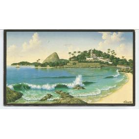 Cartão Postal - Pintura Sobre Tela Camões - Rio De Janeiro.