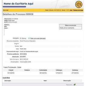 Sistema De Consulta De Processos On-line Advogados