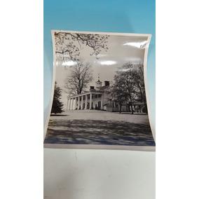 George Washington-antigua Foto Original-su Casa En Vermont