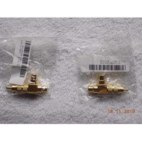 Plug Rca (1 Macho X 2 Fêmea) Para 02 Toca Discos - 02 Peças