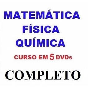 Curso De Matemática + Física + Química Aulas Em 5 Dvds R0