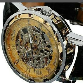 Relógio Winner Esqueleto Mecânico Importado