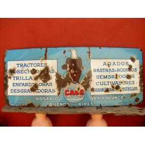 Enlozado Cartel Tractores Case , No John Deere , Antiguo