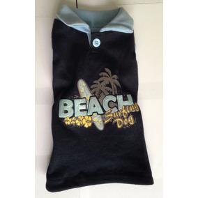 Playera Perro Beach Polo Azul Marino Talla 1 Liquidación f064a413048d4