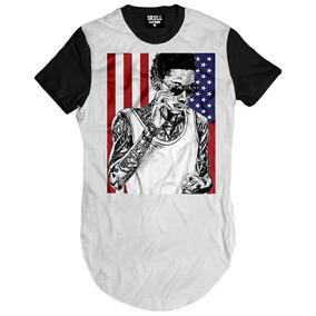 Camiseta Exclusiva Wiz Khalifa Hip Hop Usa Eua Bandeira Swag b9a9338380a