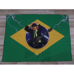 Bandeira Decorativa Angus Young Bandeira Do Brasil