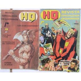 Revista Hq Nº 01 E 03 (especializada Em Quadrinhos - 1990)