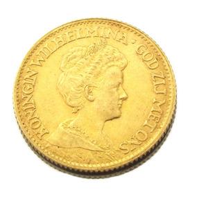 Moeda 10 Gulden Wilhelmina De 1912 Em Ouro 22k M0754