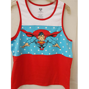 Playera Superman Tank Top Original Dc Comics Importada