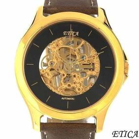 Reloj Etica / Automatico / Piel Café / Oferta Envio $0 Sp0