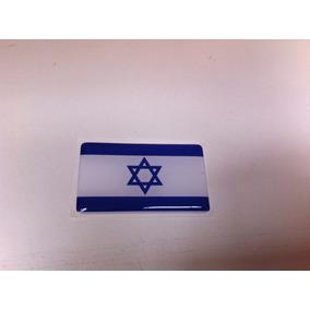 Adesivo Resinado Da Bandeira De Israel 5 Cm Por 3 Cm