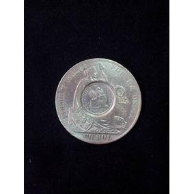 Moeda 1894 Guatemala Peso 1/2 Real Counterstamp 1889 Bd Sol