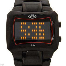 Robusto Reloj Extreme Digital En Acero Inox Negro