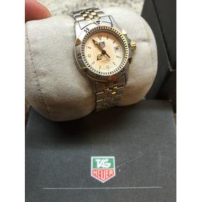 99d3dc9d207 Lindo Relógio Tag Heuer Feminino Serie - Perfeito Banho Ouro