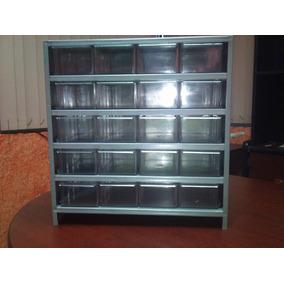Gabinete Visible 20 Gavetas Cajonera Exhibidor Anaquel Metal