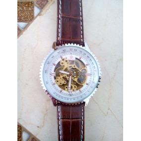 Relógio Automatico Technos Pulseira De Couro Esqueleto - Relógios De ... 378d45537a