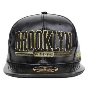 Boné Skill Head Brooklin Snapback - Couro 10b25fda4c5