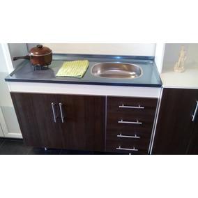 Muebles Cocina Acero Inoxidable Bajo Mesada Estantes - Muebles de ...