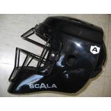 Casco Tipo Hockey Negro Infantil Catcher Arreos Careta