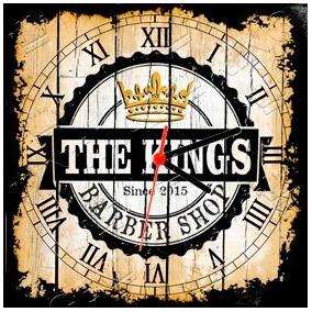 36da4227941 Relógio Vintage King Mdf 27x27 Barber Shop Cloqbc.0011. R  29 98
