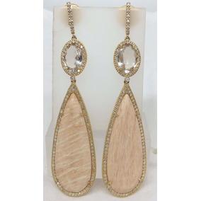 Pocao2005- Brincos De Ouro 18k750 Vivara Diamantes B379