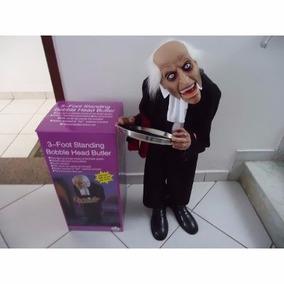 Boneco Mordomo Terror Animatronic Gigante 1metro Halloween