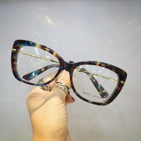 ab8a93a6939d2 Armação Óculos Marc Jacobs Dourado Transparente. São Paulo · Armação De Grau  Feminino Estilo Gatinho Acetato Com Brinde