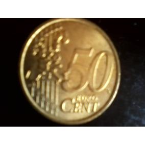 Moeda 50 Cinquenta Centavos Euro Frete Grátis!