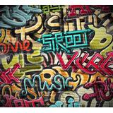 Adesivo De Parede - Grafite Com Impressão Látex