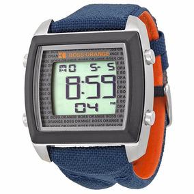 f7ac159fede5 Reloj Lujo Hugo Boss Digital Con Luz Azul Extensible Caucho - Reloj ...