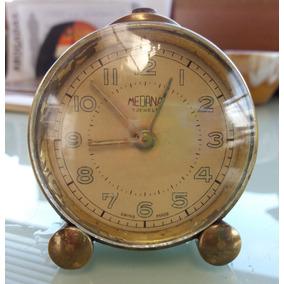 4dd44873b761 Reloj Despertador Bronce Medana-suizo-tomo Art-casa Pompeya