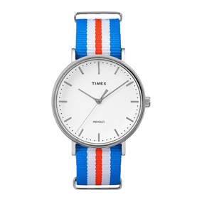 Relógio Timex Weekender Tw2p91100ww/n Pulseira De Nylon