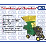 Trituradora De Ramas 13hp Chipeadora