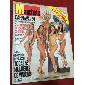 Manchete Carnaval 94 Musas Luma Xuxa Angelica Travestis Gata