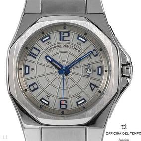 Reloj Officina Del Tempo Italiano En Acero Inoxible Plata