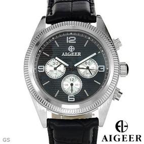 Reloj Algeer Automático, Hombre, Acero Inoxidable Piel 2 Flr
